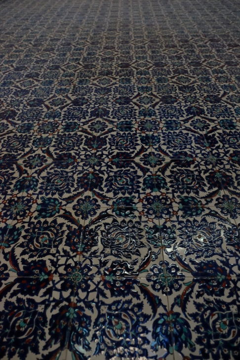 Blue Mosque - detail of tiles