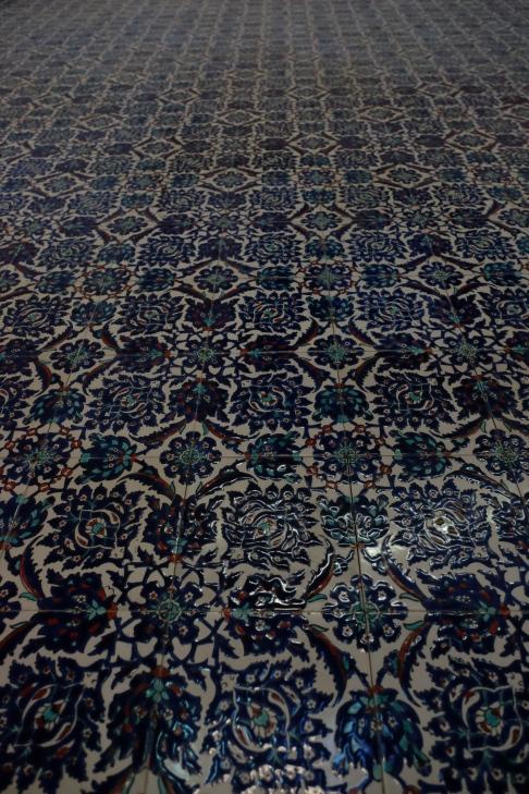 Blue Mosque - detail of tiles