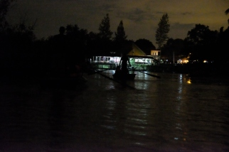 A view of the embarkation area at Kampung Kuantan as seen from the river