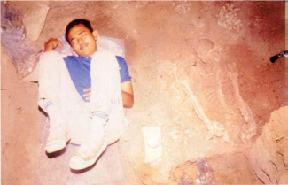 Simulation of the position in which Perak Man was discovered