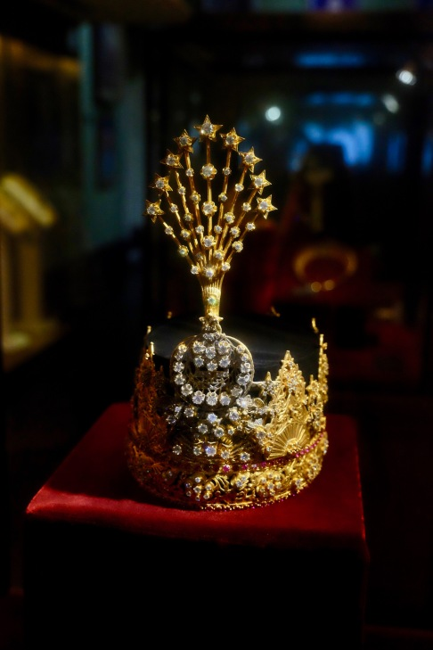 Countless priceless pieces such as this Royal Crown are on display in the Gallery