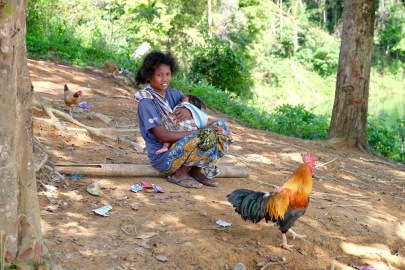 Orang Asli Woman and Chid