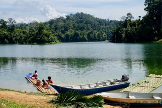 Orang Asli in lake