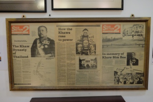 Newspaper cuttings at Pinang Peranakan Mansion