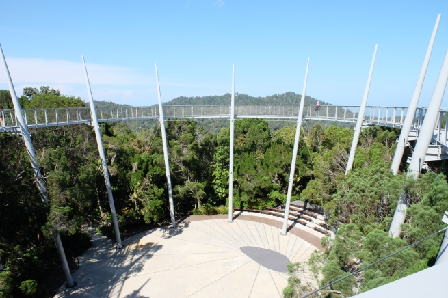 """Tree Top Walk"" at Curtis Crest, named after Charles Curtis, the first Superintendent of the Penang Botanic Gardens"