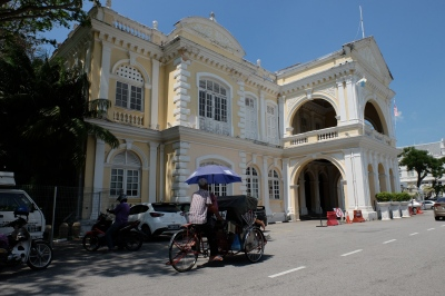 A Trishaw ride through the streets of George Town
