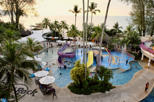 Great for the family - the beachside pool and entertainment area