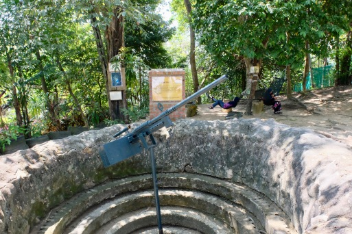 Anti aircraft cannon at Penang War Museum