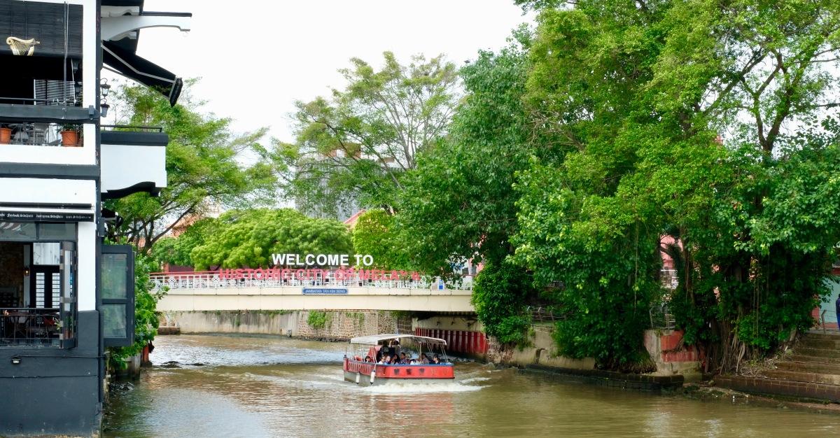 River cruising in Malacca