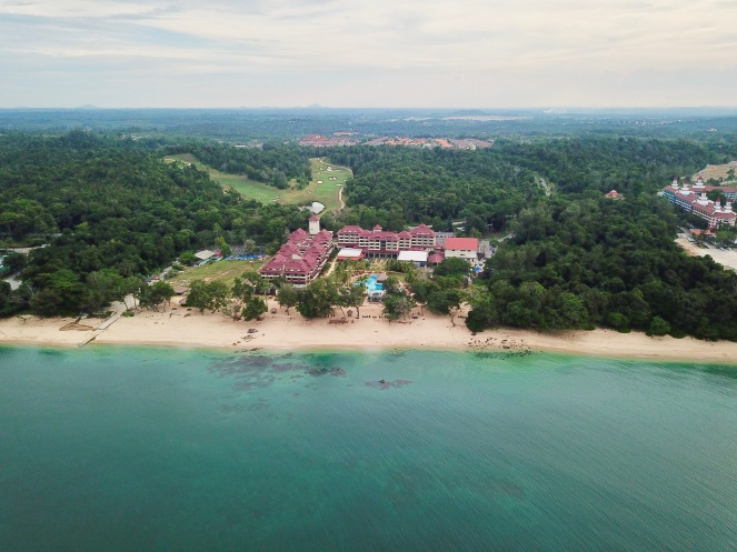 Drone's eye view - Sand and Sandals Desaru