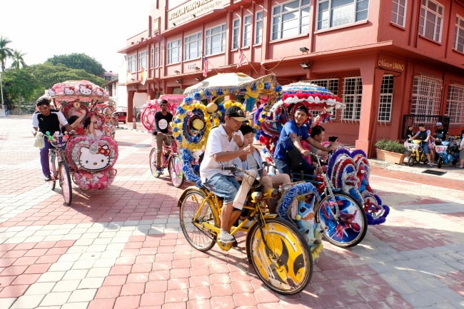 Trishaws in Malacca_2