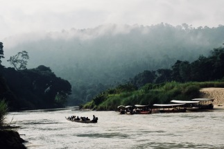 Boats on river - Taman Negara