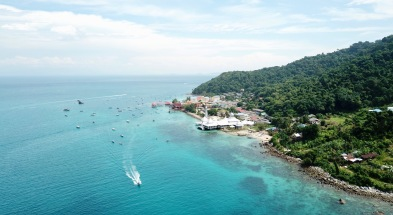Main village on Perhentian Island
