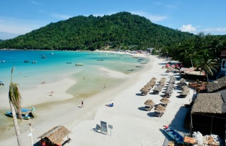 View from Mimpi resort of Long Beach - Perhentian Island