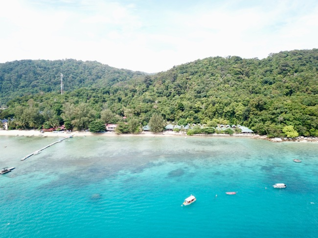 Perhentian Island drone view