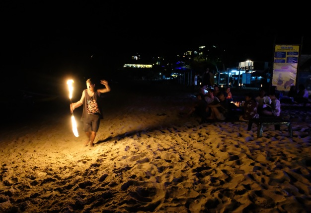 Beach fire dancer - Perhentian