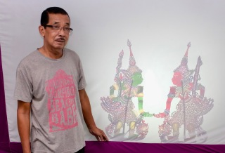 Pak Daim and his shadow puppets