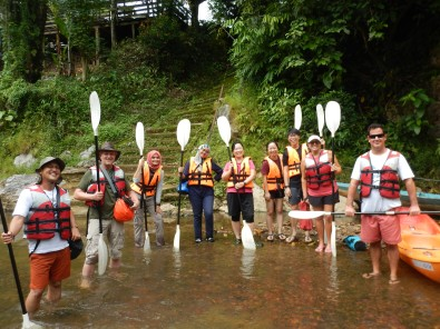 Semadang Kayak - training session group photo