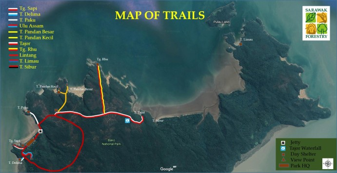 Map trail