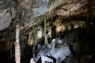 Limestone formations in Mulu Caves - Sarawak