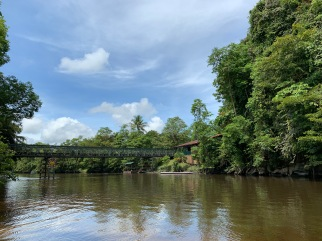 River at Mulu - bridge to Marriott resort