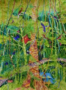 Ron Galimam - Bilit riverbank, Kinabatangan, Watercolour