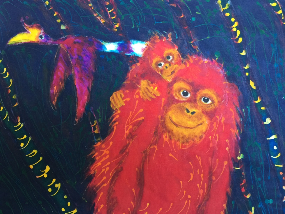 Ron Galimam - Mother & Child Orangutan Batik