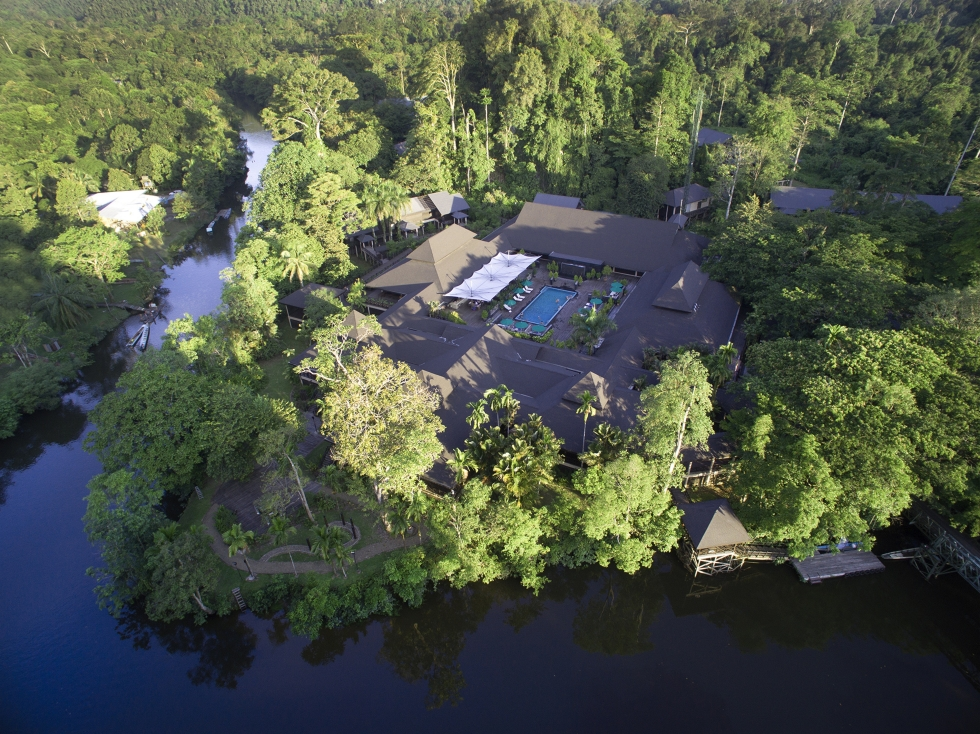 aerial view mulu marriott_admin block_restaurant_ballroom_melinau river 5