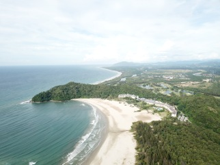 Rasa Ria resort and beach - looking northward