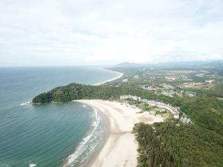 Rasa Ria resort and beach - looking northward