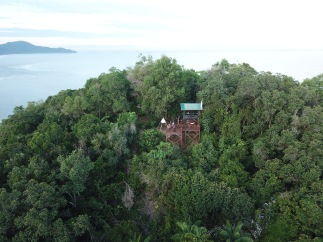 Lookout point on hilltop near Rasa Ria Resort