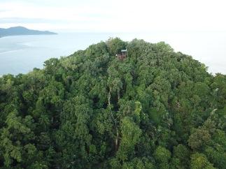 Lookout point on hilltop near Rasa Ria Resort