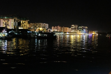Kota Kinabalu shorefront as seen from North Borneo Cruises dinner cruise