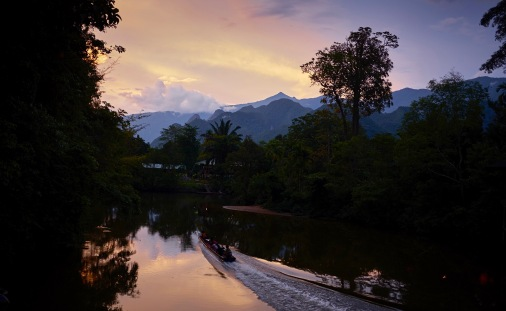 Melinau river sunset, Mulu Marriott resort & spa
