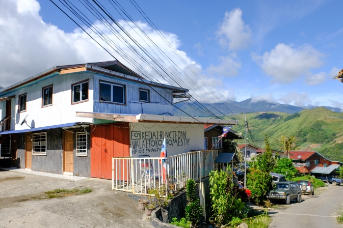 One of the many local homes that make-up Ranau Walai Tokou Homestay