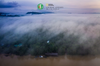 Sukau Rainforest Lodge - from air 6